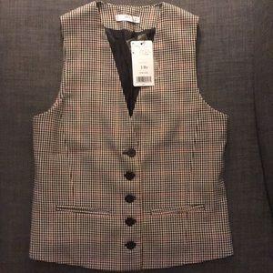 Mango women's houndstooth five button suit vest